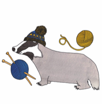 The Woolly Badger logo